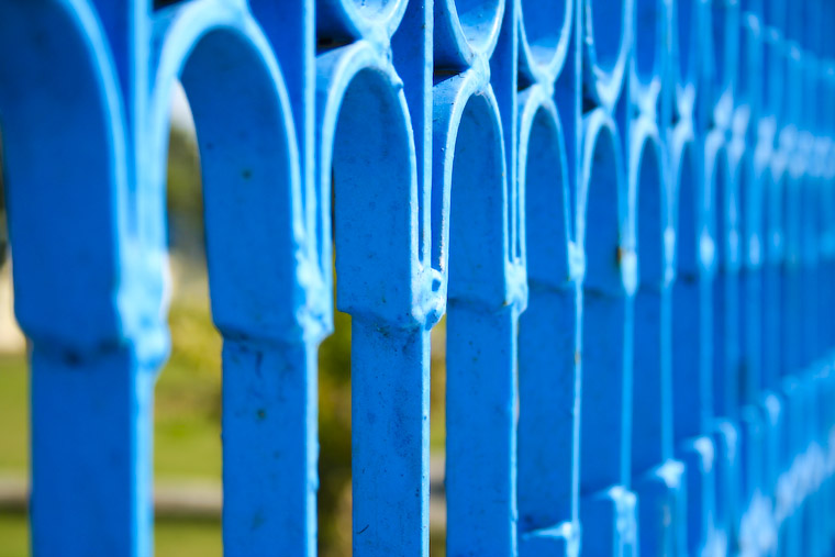 Blue Fence